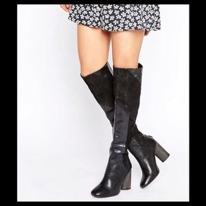 Free People Black Leather boot